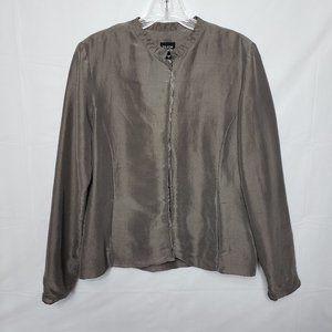 Eileen Fisher 100% Silk Blazer Size Small